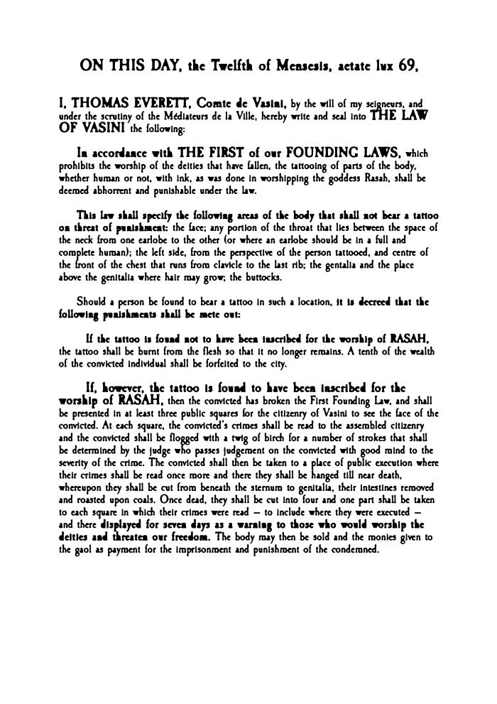 Law on Tatoos stage 2